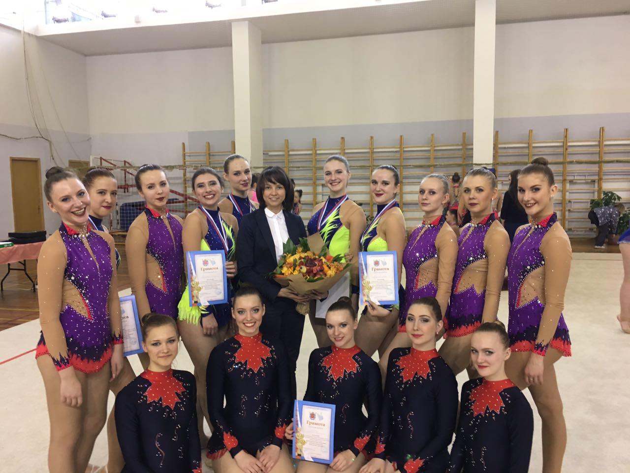 Сборная по художественной гимнастике завоевала третье место в студенческом чемпионате города