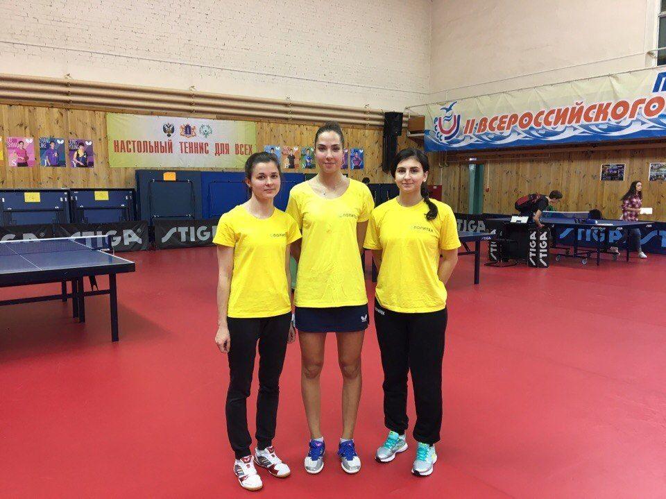 Женская сборная Политеха по настольному теннису заняла пятое место на чемпионате России