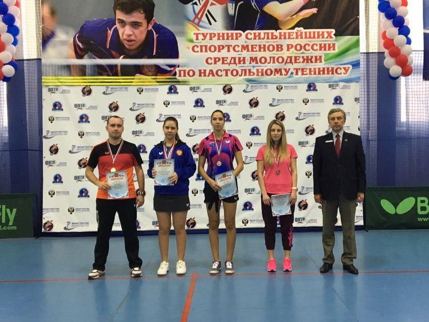 Ангелина Испирян одержала победу на молодежном чемпионате России по настольному теннису