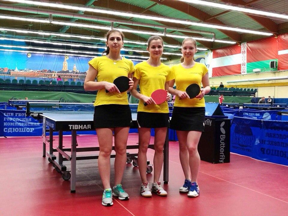 Сборная по настольному теннису завоевала золотые и серебряные награды на городском чемпионате ВУЗов