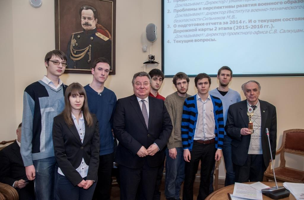 1 место в чемпионате Вузов СПб по шахматам