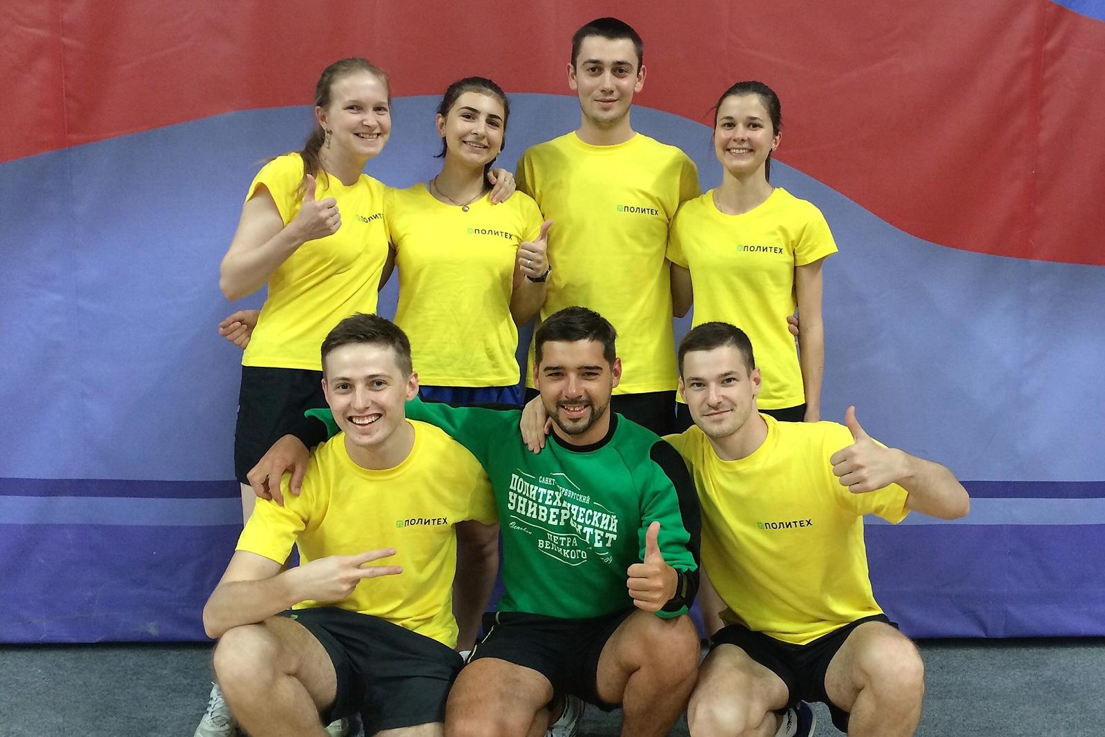 Команда Политеха по настольному теннису стала седьмой на всероссийской Универсиаде