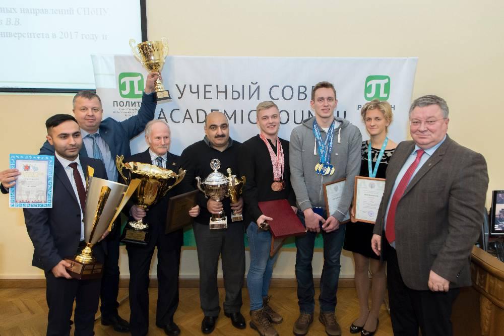 Чествование спортсменов на заседании Ученого совета СПбПУ