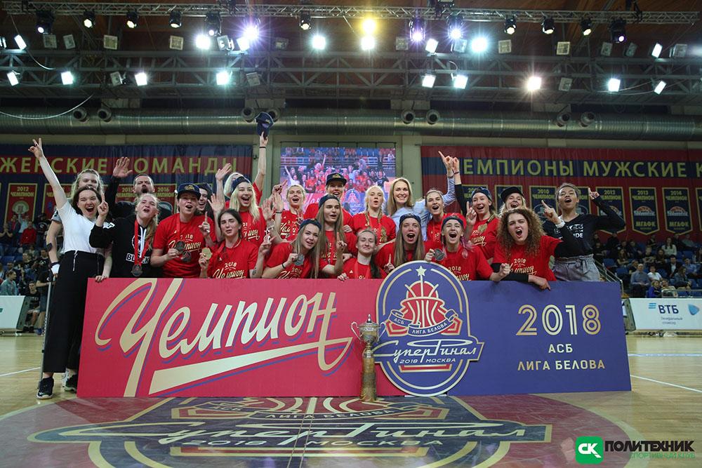 Баскетболитки Политеха ЧЕМПИОНЫ России АСБ
