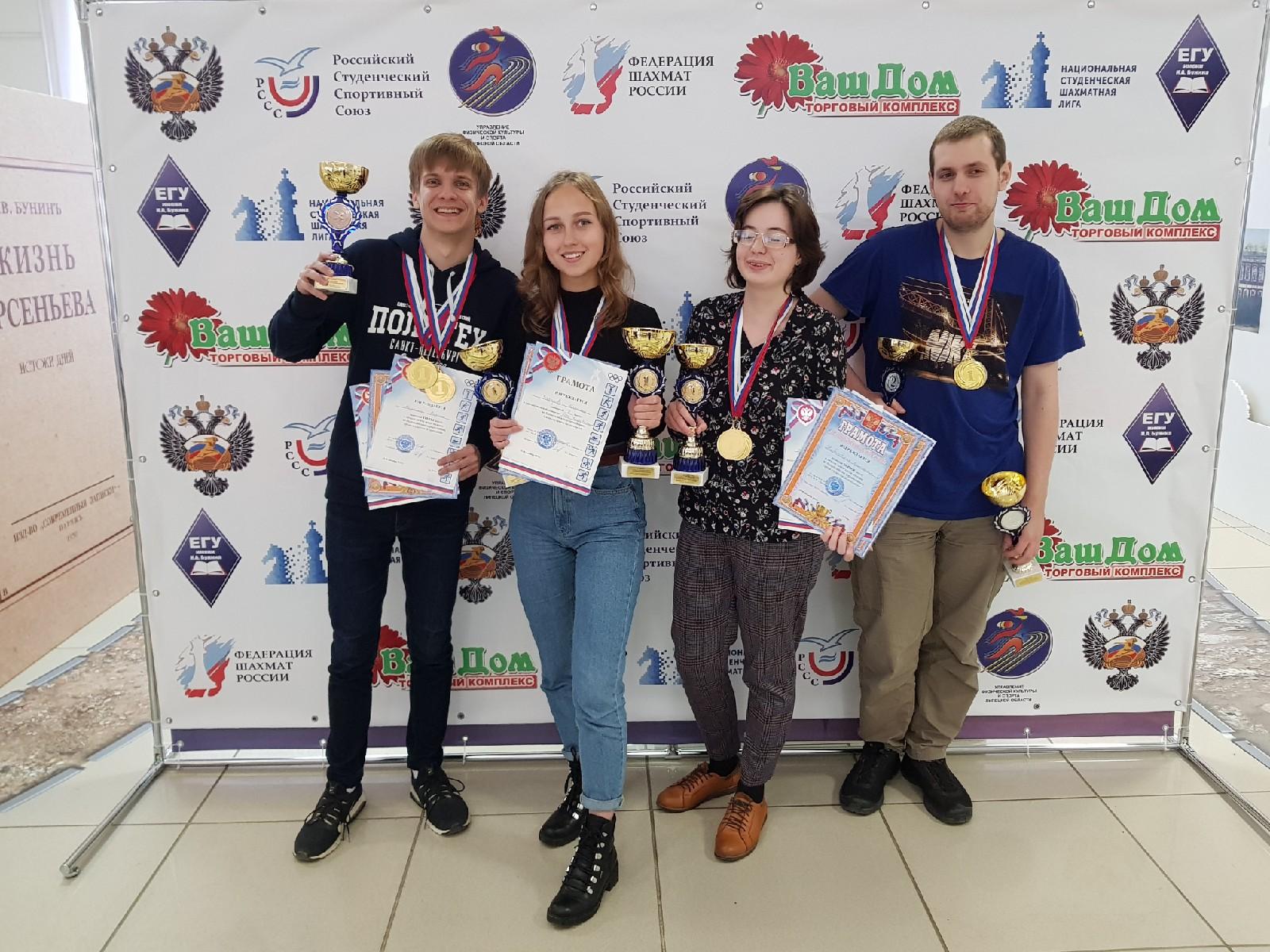 Шахматисты Политехнического — победители Всероссийских соревнований!