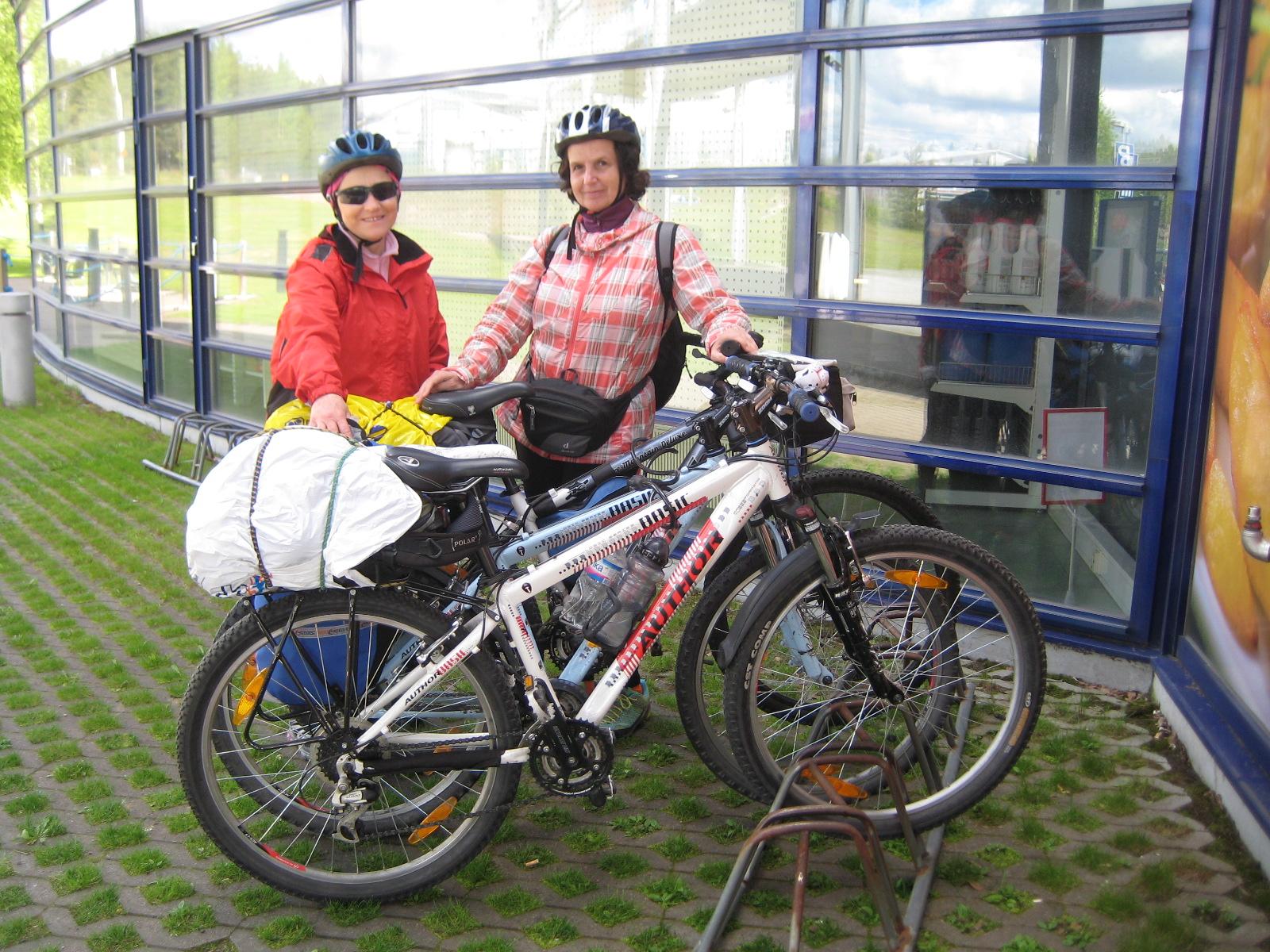 В парк рододендронов на велосипедах