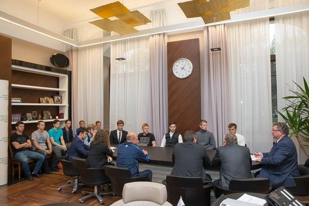 Встреча А.И. Рудского и футбольной команды «Политехник».