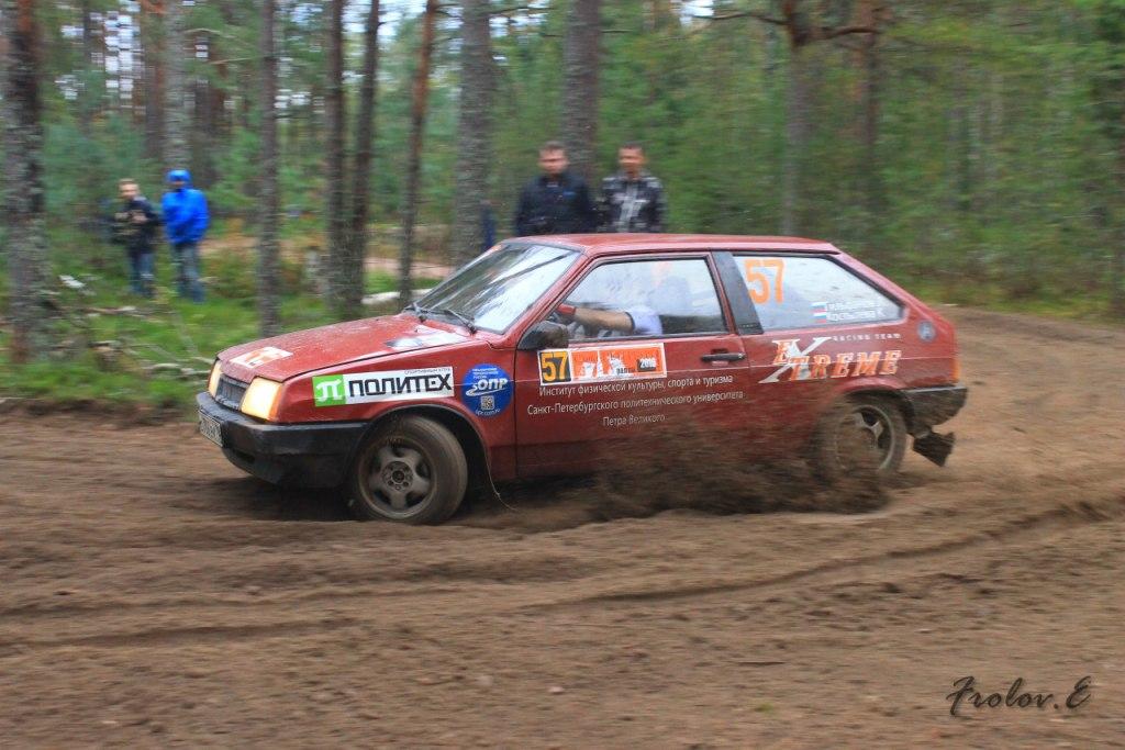 Команда Политеха по ралли стала первой в финале Кубка Ленинградской области