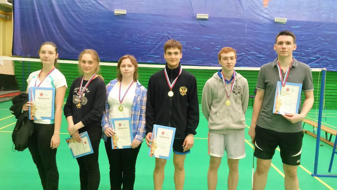 Команда Политеха по бадминтону одержала победу в чемпионате ВУЗов Санкт-Петербурга